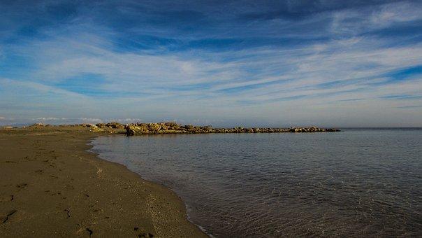 Beach, Empty, Sand, Sky, Clouds, Autumn, Calm, Serenity