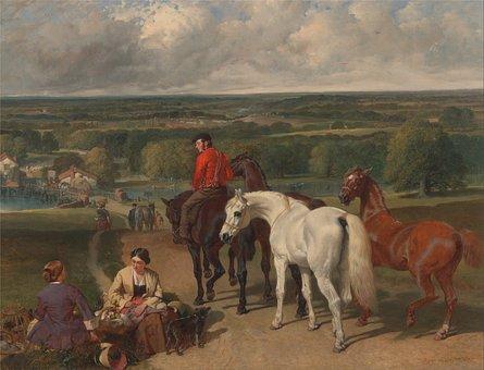 John Herring, Art, Artistic, Painting, Oil On Canvas