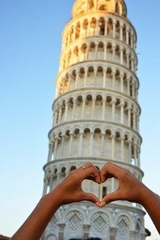 Sky, Pisa, Torre, Tower Of Pisa, Leaning Tower, Love