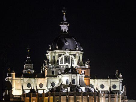 Almudena Cathedral, Madrid, Almudena, Church, Spain