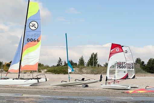 Surfschule, Surf, Sail, Boot, Sailing Boat, Baltic Sea