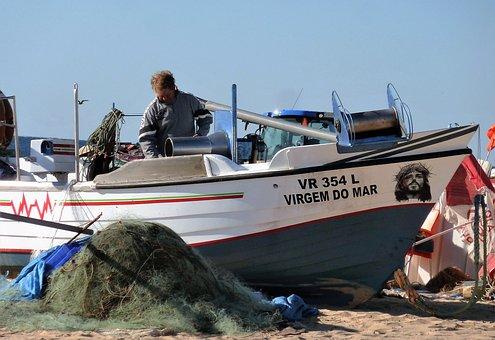 Transport, Fishing Boat, Visser, Boat, Sloop