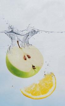 Apple, Lemon, Water Bath, Picture Composition