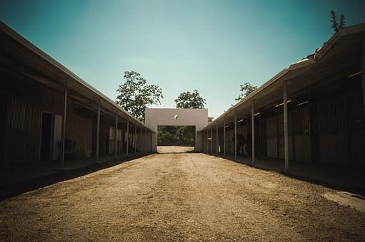 Perspective, Stables, Building, Structure, Architecture