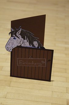 Invitation, Horse, Horse Stable, Birthday