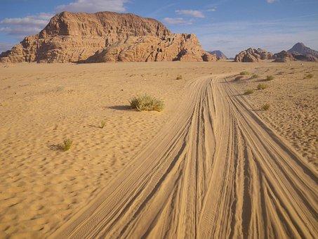 Jordan, Desert, Wadi Rum