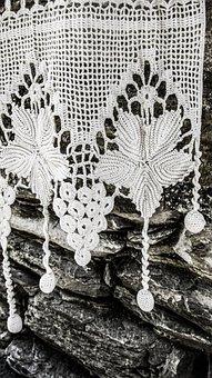 Handiwork, Embroidery, Needlework, Lace, White