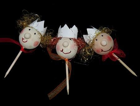 Wood Doll, Princess, Fairy Tales, Apple Doll, Tinker