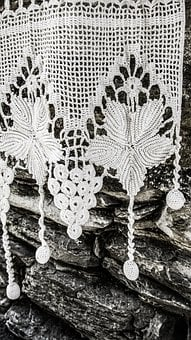 Handiwork, Embroidery, Needlework, Lace, White