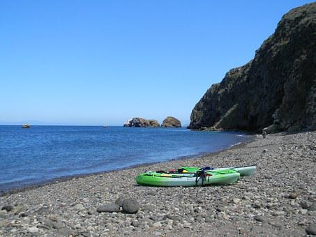 Kayak, Kayaks, Beach, Sea Kayaking, Sit On Top Kayak