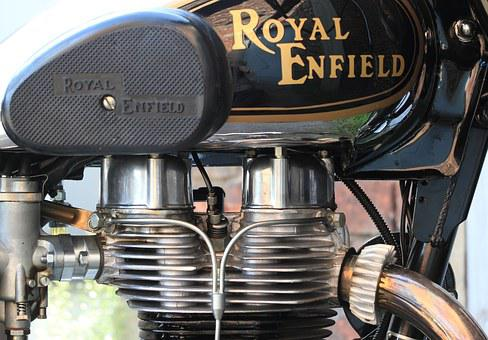 Motor, Motorcycle, Engine, Royal, Single, Indian
