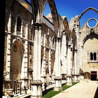 Carmo Convent, Lisbon, Portugal, Convent, Carmo, Gothic