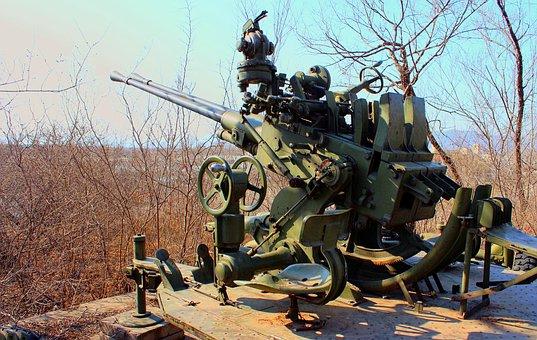 Howitzer, Antiaircraft Gun, Gun, Wepon, Weapon, War