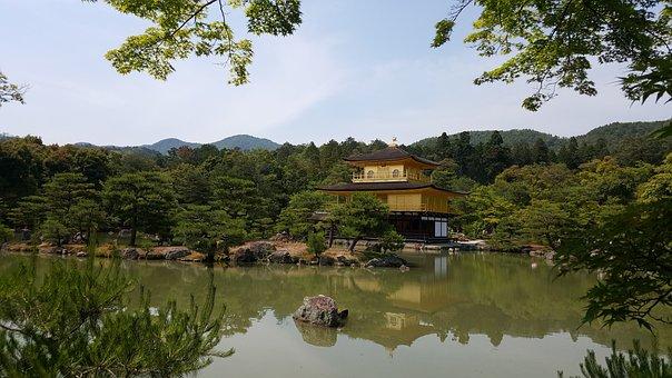 Kinkaku-ji, Japan Pavilion, Travel, Building, Tourism