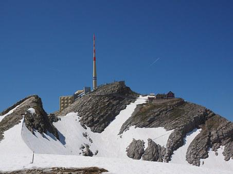 Säntis, Mountain, Alpstein, Alpine, Snow, Swiss Alps