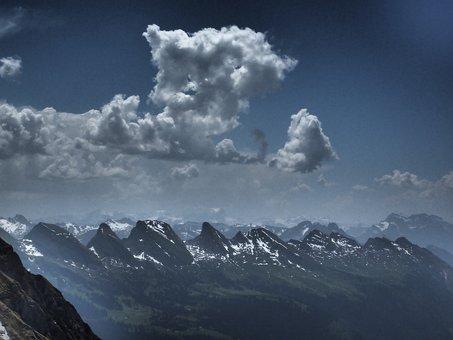Churfirsten, Mountains, Alpine, St, Gallen, Switzerland