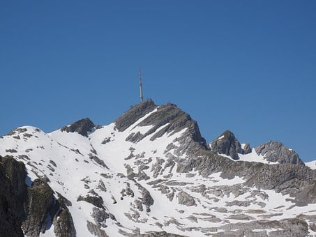 Säntis, Mountain, Alpine, Snow, Swiss Alps, Appenzell