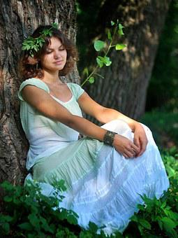 Nymph, Forest, Nature, Elf, Beautiful, Girl, Hippie