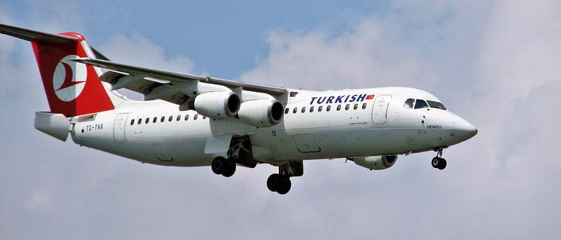 Plane, Tc-tha, Rj100, Turkish, Airportist, Landing
