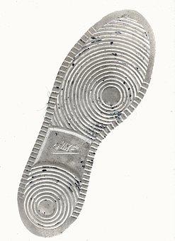 Shoe, Sole, Batch Print, Footprint, Nike, Relief