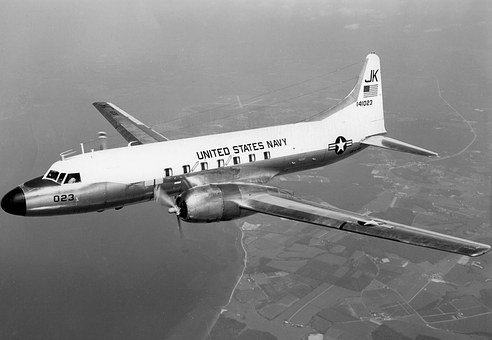 Propeller Plane, Navy, Aircraft, C 131f, Vr 1, 1965
