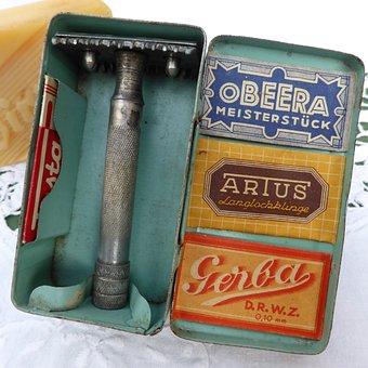 Shaver, Body Care, Man, Shaving, Razor Blade, Antique