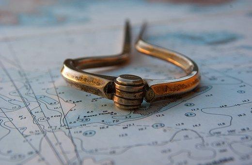 Marine Map, Compass, Navigation, Marin