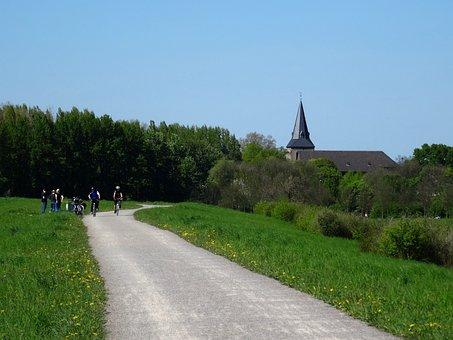 Monheim Am Rhein, Away, Horizon, Spring, Infinity, Dike