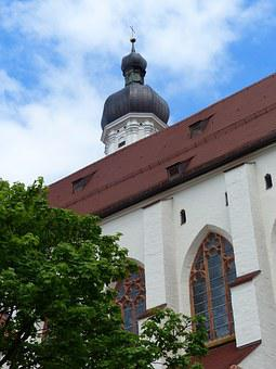 Landsberg Am Lech, Lech, Parish Church, Church, Steeple