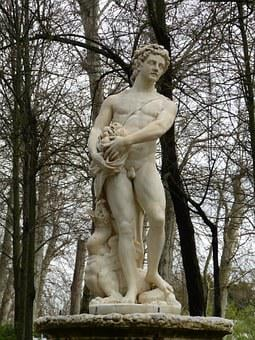Fig, Youth, Castile, Marble, Park, Palace, Man, Statue