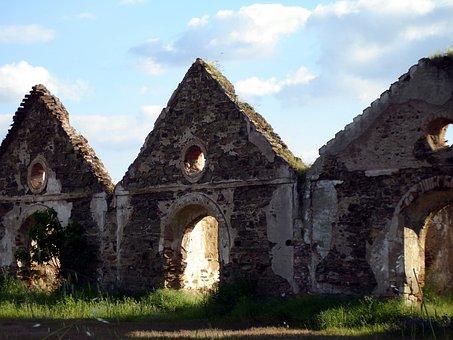 Portugal, Derelict, Old Mine, Facade, Stonework