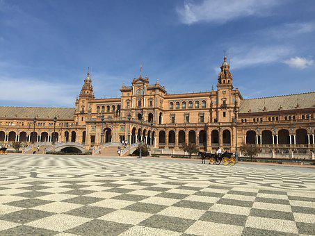 Seville, Plaza De España, Places Of Interest, Space