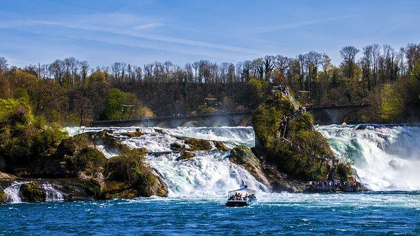 Rhine Falls, Waterfall, Schaffhausen, Switzerland