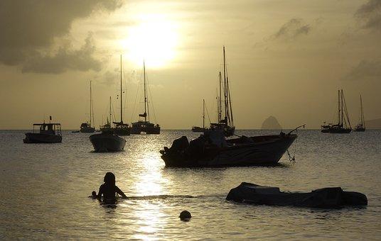 Sea, Sun, Sunset, Boot, Sail, Sailing Boat, Ship