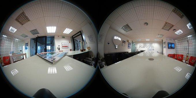 Spherical 360 Degree Photo, Office, Desk, Company, 360