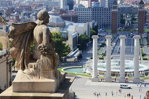 Barcelona, View Of Barcelona, Barcelona Tourism, Angel