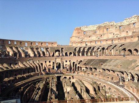 Italy, Colosseum, Rome, Monument, Building, Romans