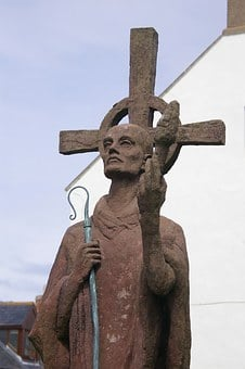 Northumberland, Statue, Church, Lindisfarne, Missionary