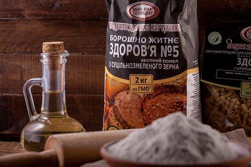 Rye Flour, Vegetable Oil, Ingredients For Baking, Flour