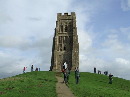 Glastonbury, Tor, Somerset, England, Tourism, Travel