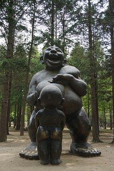 Sculpture, Nami, Wood, Forest, Nature, Works, Park