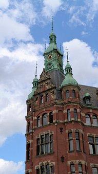Hamburg, Kontor, Home, Building, Architecture