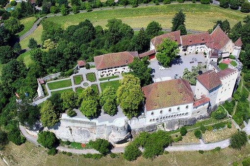 Switzerland, Castle Lenzburg, Buildings, Architecture