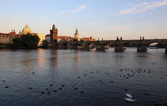 Prague, Charles Bridge, City, History, River, Bridge