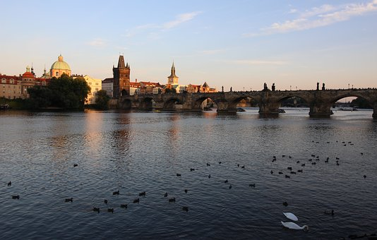 Prague, Charles Bridge, City, History, River, Bridge