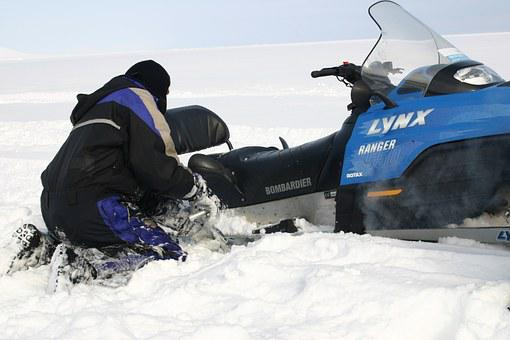 Snowmobile, Risk, Scooter, Excavate, Spitsbergen