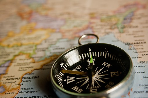 Compass, Navigation, Map, Direction, Journey, Travel