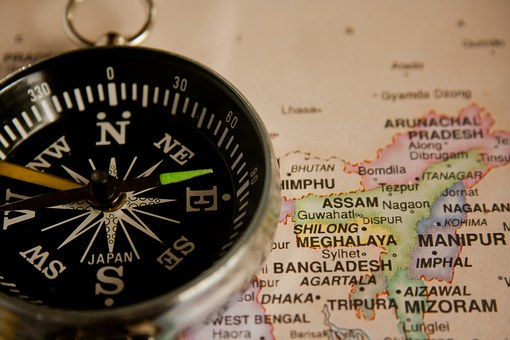 Compass, Navigation, Map, Direction, Travel, Journey