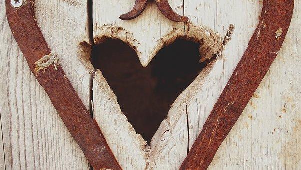 Heart, Wooden Door, Entrance, Outdoor, Wooden, Door
