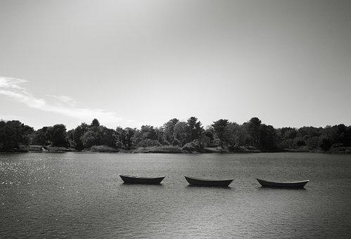 Rowboats, Boats, Skiffs, Rowing Boats, Lake, Boat, Sea